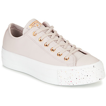 Shoes Women Low top trainers Converse CHUCK TAYLOR ALL STAR LIFT SPECKLED - OX Pink