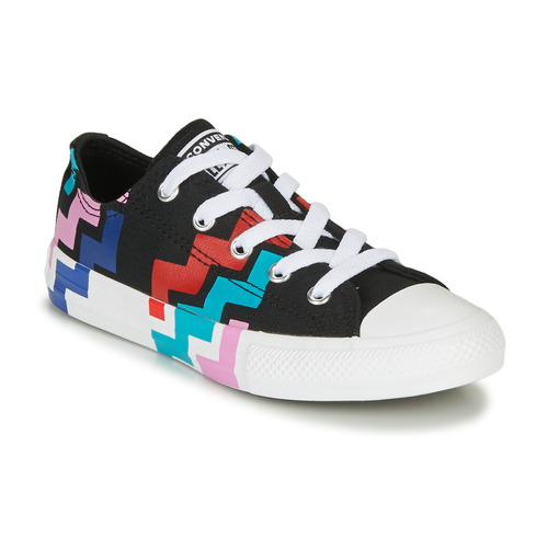 Shoes Girl Low top trainers Converse CHUCK TAYLOR ALL STAR VLTG - OX  black / Red / Blue