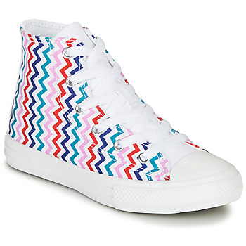 Shoes Girl Hi top trainers Converse CHUCK TAYLOR ALL STAR VLTG - HI White / Blue / Red