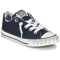 Shoes Boy Low top trainers Converse CHUCK TAYLOR ALL STAR STREET SHARK BITE SLIP-ON - SLIP Navy