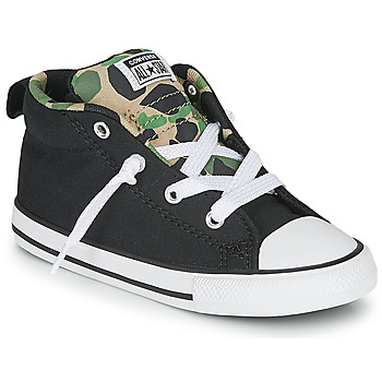Shoes Boy Low top trainers Converse CHUCK TAYLOR ALL STAR STREET CAMO - MID  black / Kaki