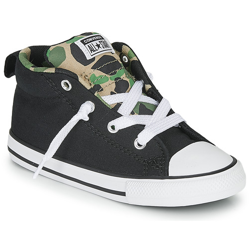 Shoes Boy Low top trainers Converse CHUCK TAYLOR ALL STAR STREET CAMO - MID  black / Kaki