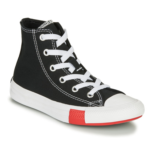 Shoes Boy Hi top trainers Converse CHUCK TAYLOR ALL STAR - HI  black / Yellow / White