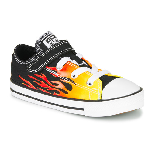 Shoes Girl Low top trainers Converse CHUCK TAYLOR ALL STAR 1V - OX  black / Yellow