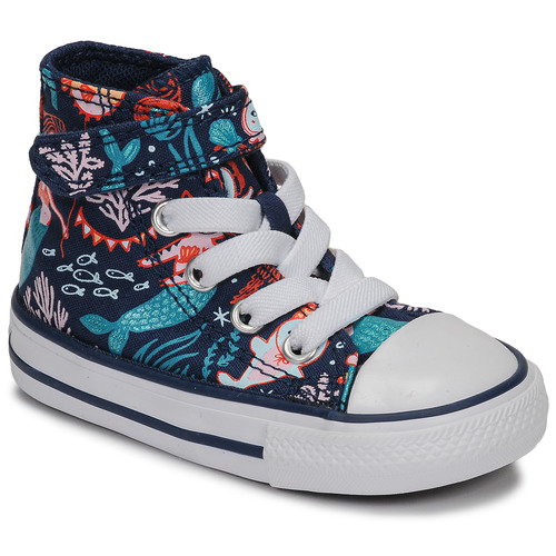 Shoes Girl Hi top trainers Converse CHUCK TAYLOR ALL STAR 1V UNDERWATER PARTY Blue
