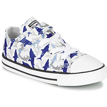 Shoes Boy Low top trainers Converse CHUCK TAYLOR ALL STAR 1V SHARK BITE - OX Blue / White