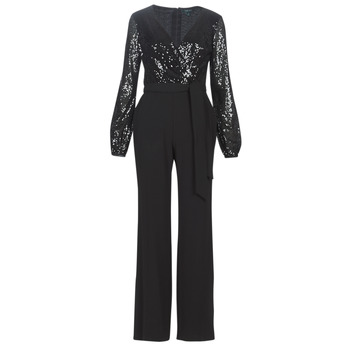 Clothing Women Jumpsuits / Dungarees Lauren Ralph Lauren  Black