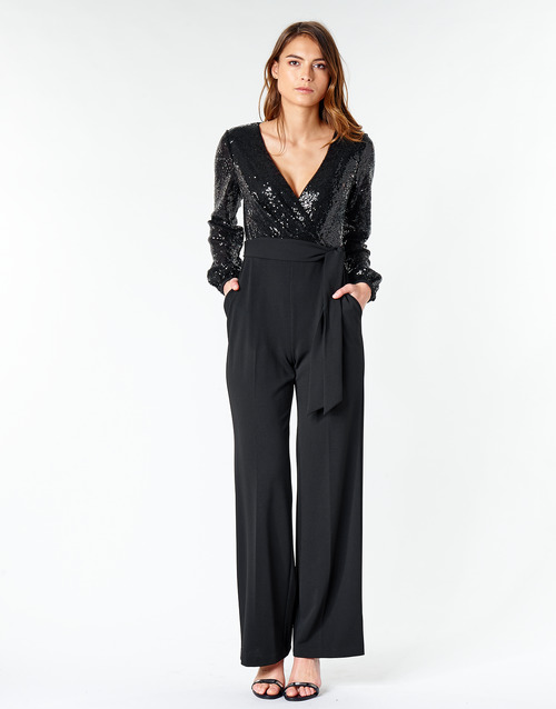 Clothing Women Jumpsuits / Dungarees Lauren Ralph Lauren Alexis Black