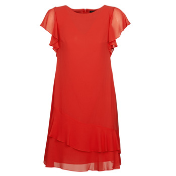 Clothing Women Short Dresses Lauren Ralph Lauren Arolde Red