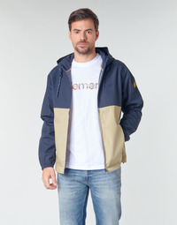 Clothing Men Jackets Element ALDER LIGHT 2 TONES Marine / Beige