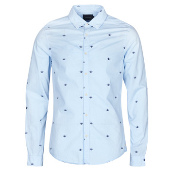 Clothing Men long-sleeved shirts Scotch & Soda RAMAZZE Blue