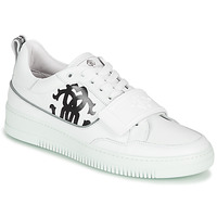 Shoes Men Low top trainers Roberto Cavalli 1090 White / Black