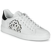 Shoes Men Low top trainers Roberto Cavalli 1005 White / Black