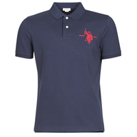Clothing Men Short-sleeved polo shirts U.S Polo Assn. COLLAR POLO Marine