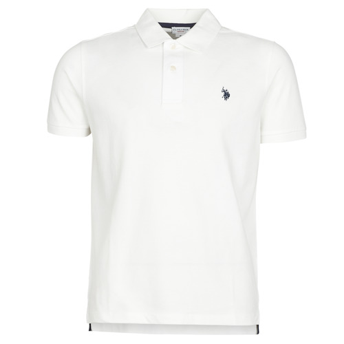 Clothing Men short-sleeved polo shirts U.S Polo Assn. INSTITUTIONAL POLO White
