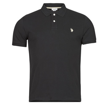 Clothing Men short-sleeved polo shirts U.S Polo Assn. INSTITUTIONAL POLO Black