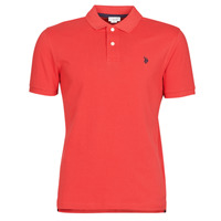 Clothing Men short-sleeved polo shirts U.S Polo Assn. INSTITUTIONAL POLO Red