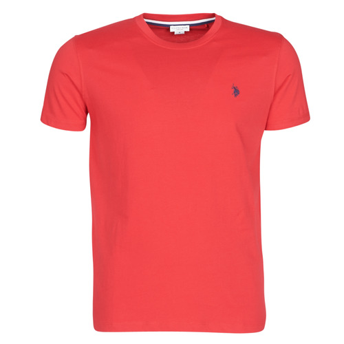 Clothing Men Short-sleeved t-shirts U.S Polo Assn. DOUBLE HORSE TEE Red