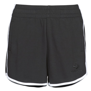 Clothing Women Shorts / Bermudas Converse TWISTED VARSITY SHORT Black