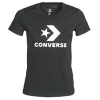 Clothing Women Short-sleeved t-shirts Converse STAR CHEVRON TEE Black