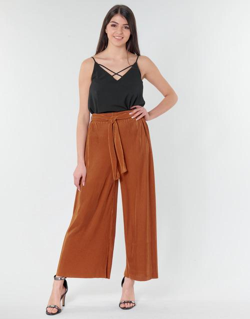 Clothing Women Wide leg / Harem trousers Moony Mood MERONAR Rust
