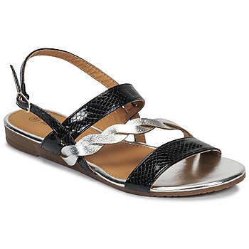 Shoes Women Sandals Moony Mood MEDINE Black / Silver