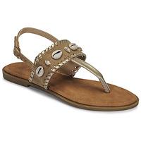 Shoes Women Flip flops Moony Mood MARISE Beige
