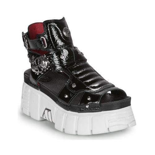 Shoes Women Sandals New Rock LIYA Black / White