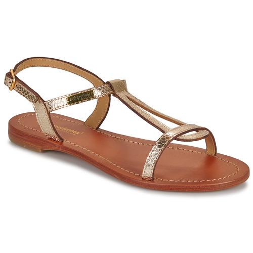Shoes Women Sandals Les Tropéziennes par M Belarbi HAMAT Gold / Serpent