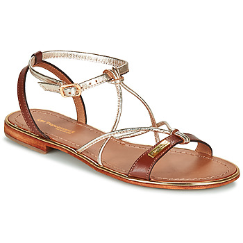 Shoes Women Sandals Les Tropéziennes par M Belarbi HIRONDEL Tan / Gold