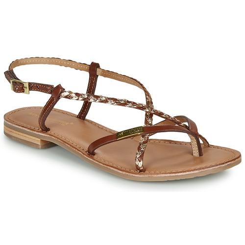 Shoes Women Sandals Les Tropéziennes par M Belarbi MONATRES Tan / Gold