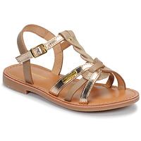 Shoes Girl Sandals Les Tropéziennes par M Belarbi BADAMI Beige / Gold