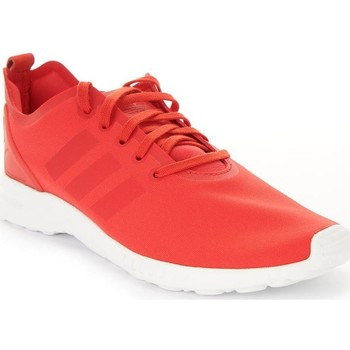 Shoes Women Low top trainers adidas Originals ZX Flux Smooth W White,Red