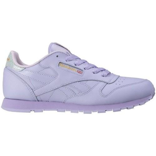 Shoes Children Low top trainers Reebok Sport Classic Leather Metallic Purple