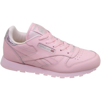 Shoes Children Low top trainers Reebok Sport Classic Leather Metallic Pink