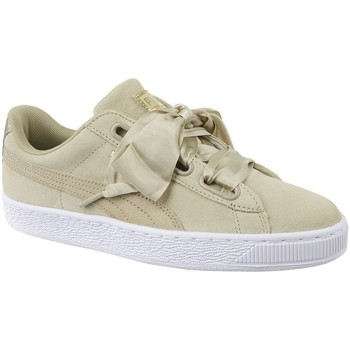 Shoes Women Low top trainers Puma Basket Heart Metallic Safari Beige
