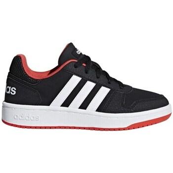 Shoes Children Low top trainers adidas Originals Hoops 20 K Black