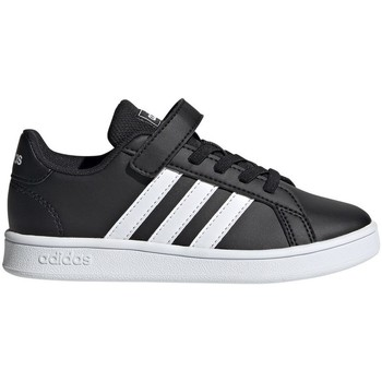 Shoes Children Low top trainers adidas Originals Grand Court C Black