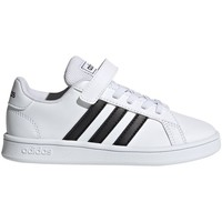 Shoes Children Low top trainers adidas Originals Grand Court C White