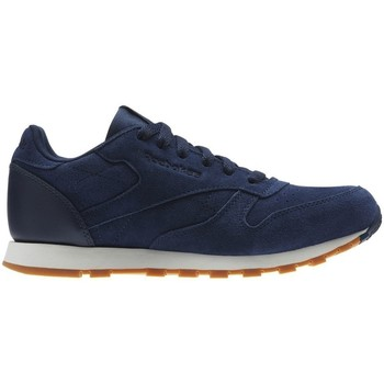 Shoes Children Low top trainers Reebok Sport CL Leather SG Navy blue