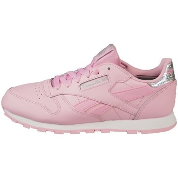 Shoes Children Low top trainers Reebok Sport Classic Leather Pastel Pink