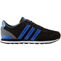 Shoes Boy Low top trainers adidas Originals Neo V Jog K Black,Blue
