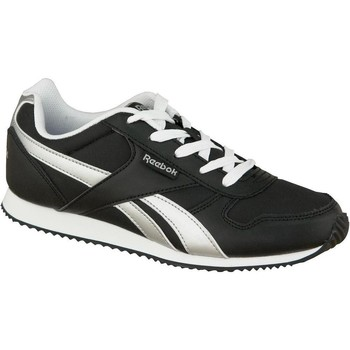 Shoes Children Low top trainers Reebok Sport ROYAL CL JOGGER Black,Silver