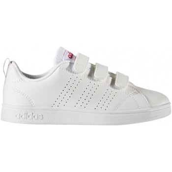 Shoes Children Low top trainers adidas Originals VS Adv CL Cmf C Ftwwhtftwwhtsuppnk White