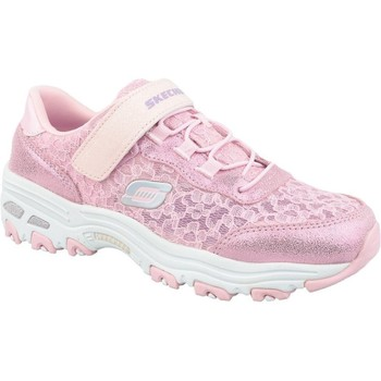 Shoes Children Low top trainers Skechers Dlites Pink