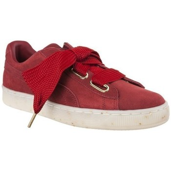 Shoes Women Low top trainers Puma Suede Heart Celebrate Wns Red
