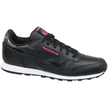 Shoes Girl Low top trainers Reebok Sport CL Leather Girl Squad Black