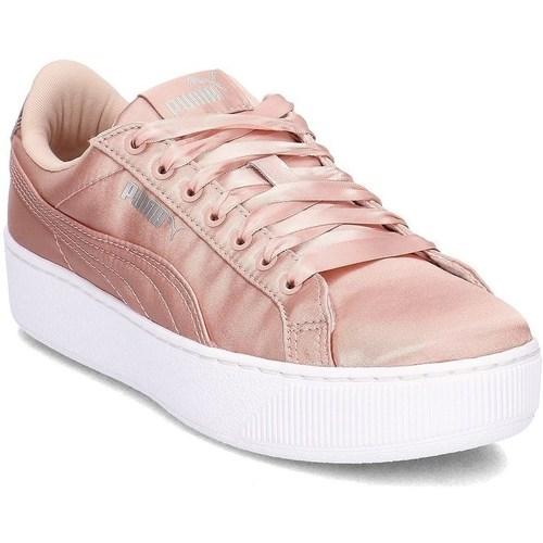 Shoes Women Low top trainers Puma Vikky Platform EP Pink