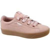 Shoes Women Low top trainers Puma Vikky Platform Ribbon Bold Pink