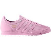 Shoes Children Low top trainers adidas Originals Dragon OG J Pink